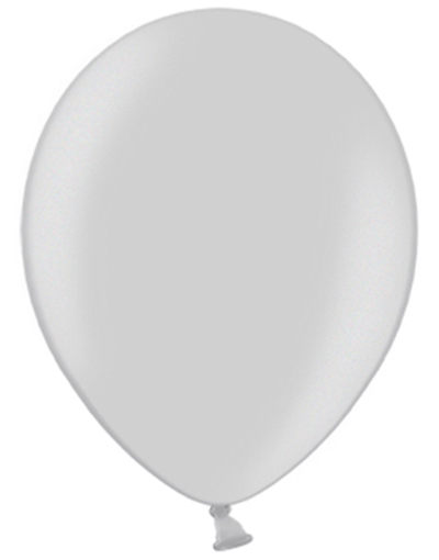 Bilde av 100 Stk 13 Cm - Megapack - Metallisk Sølvfarget Ballonger
