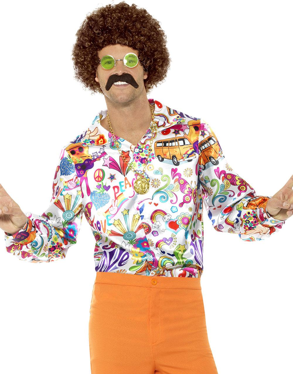 Rosa Sateng Kostymeskjorte til Mann