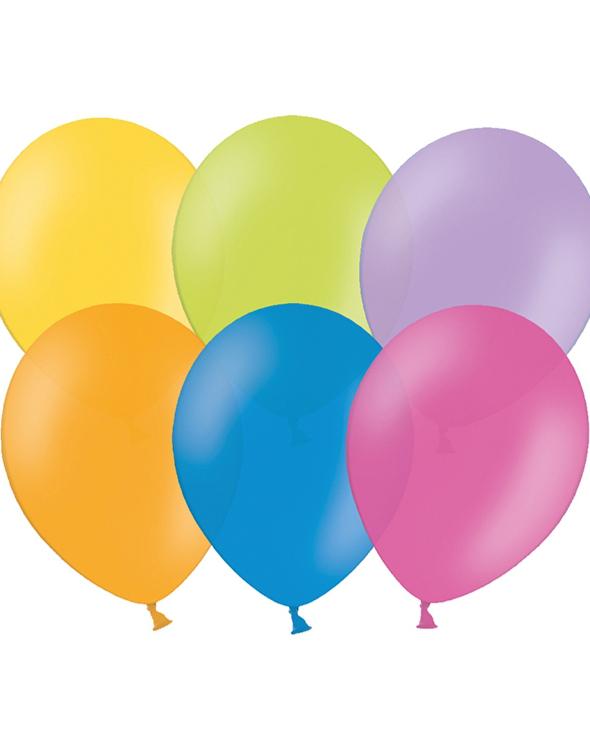 Bilde av 100 Stk 13 Cm Megapack - Små Ballonger Assorterte Farger