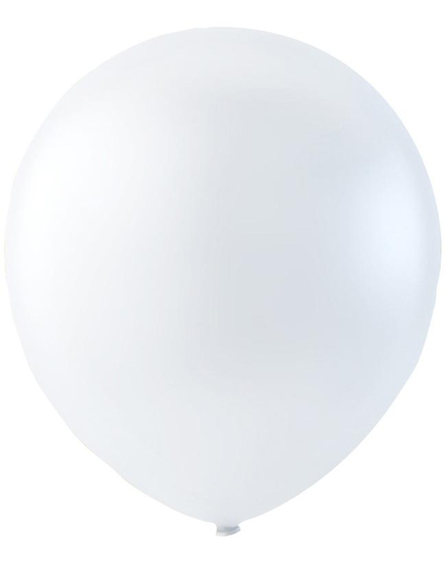 Bilde av 100 Stk 13 Cm - Megapack - Hvite Små Ballonger