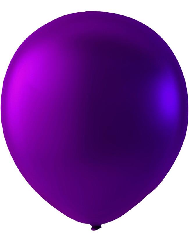 Bilde av 100 Stk 13 Cm - Megapack - Lilla Metallic Små Ballonger
