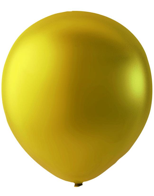 Bilde av 100 Stk 13 Cm - Megapack - Gullfarget Metallic Små Ballonger