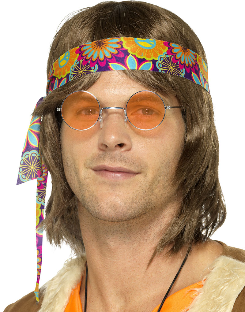 f7c39673dce0 Bilde av Runde Lennon hippiebriller Med Orange Glass