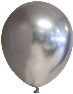 Bilde av 100 Stk 13 Cm Megapack - Glossy Sølvfarget Ballonger